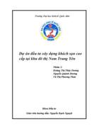 Dự án đầu tư xây dựng khách sạn cao cấp tại khu đô thị Nam Trung Yên