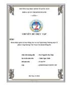 Hoàn thiện quản trị hoạt động cho vay tại Ngân hàng Thương mại Cổ phần Công thương Việt Nam Chi nhánh Đống Đa