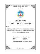 Hoàn thiện kế toán tiền lương và các khoản trích theo lương tại Công ty Trách nhiệm hữu hạn thương mại và vận tải Tín Thành Hưng