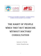 Tiếng anh The habit of people when they buy medicine without Doctors consultation