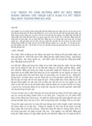 CÁC NHÂN TỐ ẢNH HƯỞNG ĐẾN SỰ BẤT BÌNH ĐẲNG TRONG THU NHẬP GIỮA NAM VÀ NỮ TRÊN ĐỊA BÀN THÀNH PHỐ HÀ NỘI