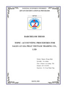 ACCOUNTING PROCEDURES FOR SALES AT GIA PHAT VIETNAM TRADING CO LTD