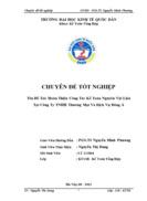 Hoàn Thiện Công Tác Kế Toán Nguyên Vật Liệu Tại Công Ty TNHH Thương Mại Và Dịch Vụ Đông Á